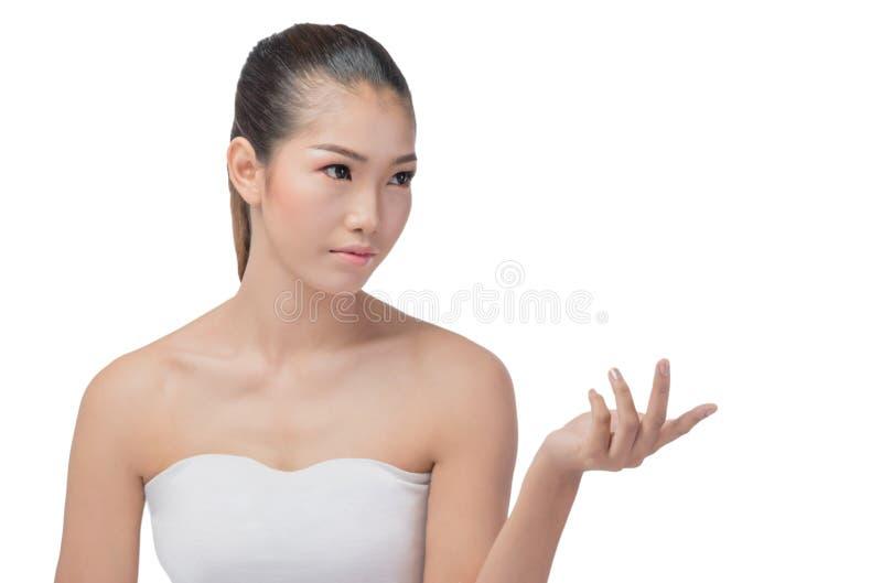 有秀丽面孔的亚裔妇女 库存照片