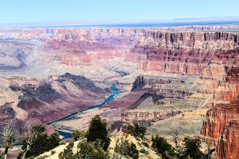 有科罗拉多河的大峡谷国立公园 图库摄影