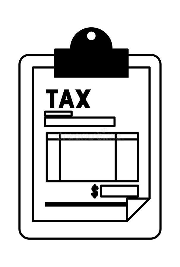 有税文件的剪贴板 向量例证