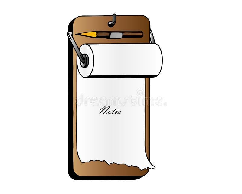 有空白的白皮书板料和笔的现实剪贴板 导航企业模板剪贴板笔记薄和纸板料文件 皇族释放例证
