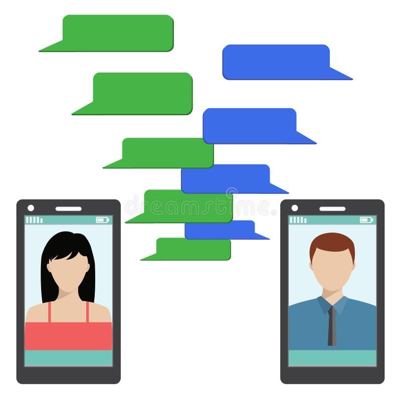 Download 有空白的讲话泡影的两个黑智能手机 向量例证. 插画 包括有 聪明, 空白的, 概念, 移动电话, 会议, 小配件 - 72361165