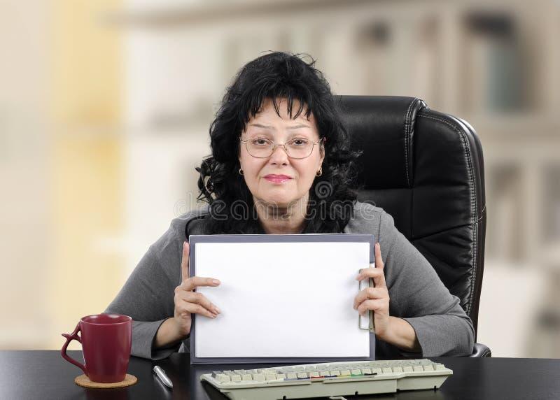 有空白页的精神健康顾问 图库摄影
