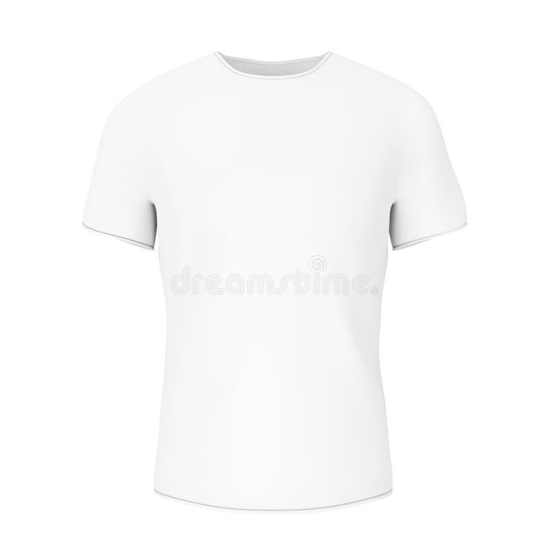 有空的空间的特写镜头白色空白的T恤杉你的设计 3 库存例证