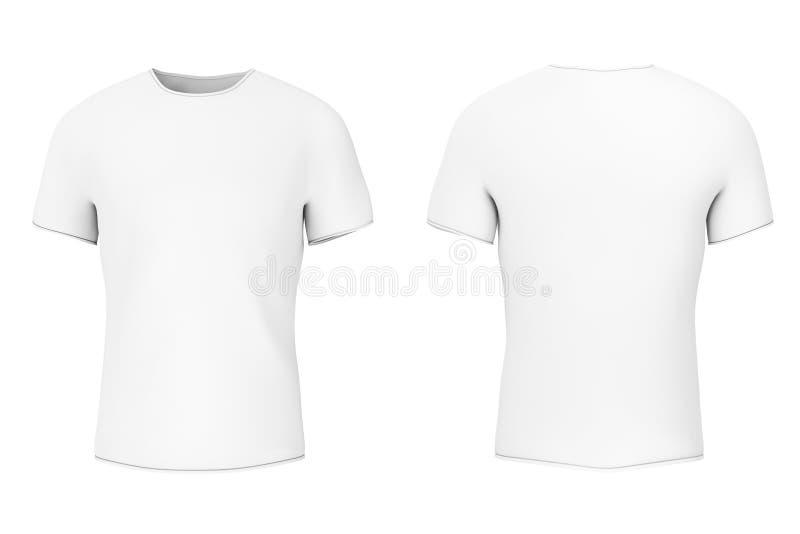 有空的空间的特写镜头白色空白的T恤杉你的设计 3 皇族释放例证