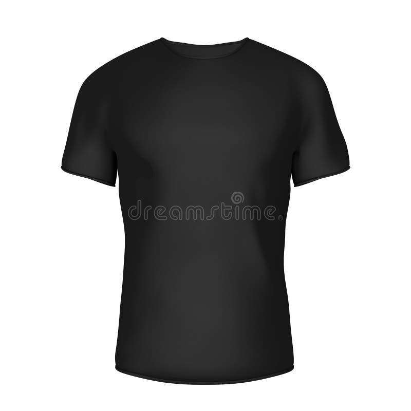 有空的空间的特写镜头黑空白的T恤杉你的设计 3 向量例证