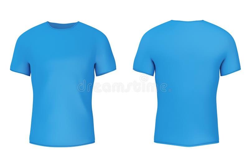 有空的空间的特写镜头蓝色空白的T恤杉你的设计 3d 向量例证