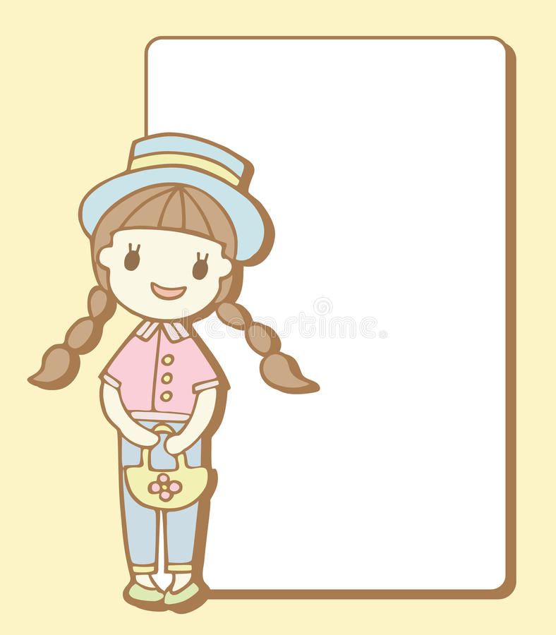 Download 有空的空间的逗人喜爱的女孩您的文本的 向量例证. 插画 包括有 相当, 会议室, 通知单, 附注, 空白 - 30331435