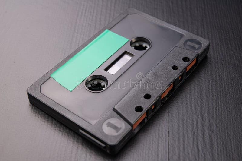 有空间的卡型盒式录音机文本项的 没有描述的卡式磁带 免版税库存图片