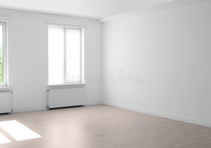 有窗口的客厅 内部装饰业 库存照片