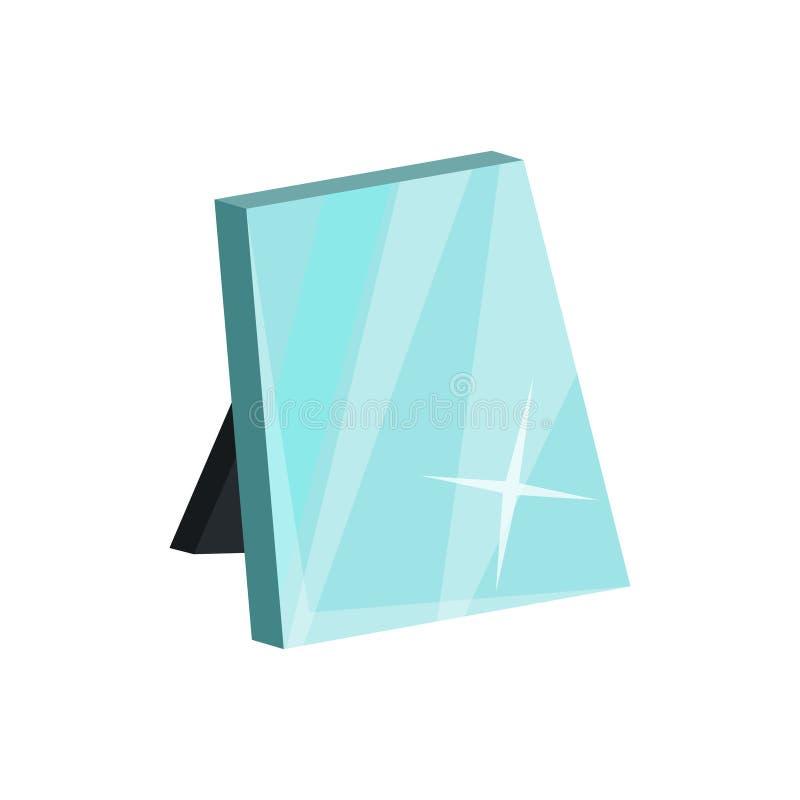 有立场的表镜子构成的 化装室或发廊的设备 平的传染媒介设计 库存例证