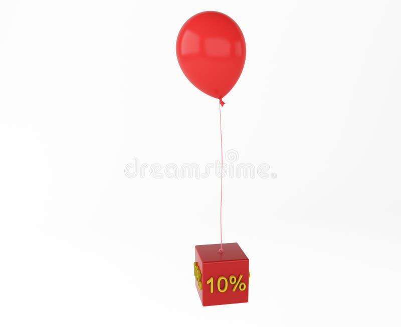 有立方体兴趣的气球 免版税库存照片