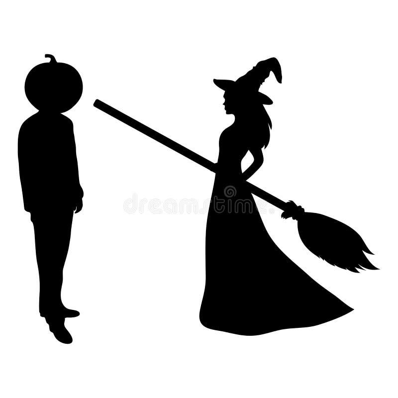 有笤帚的美丽的巫婆 皇族释放例证