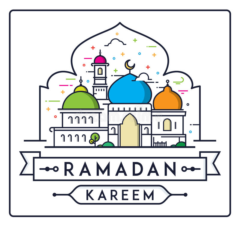 有简单的清真寺的赖买丹月Kareem