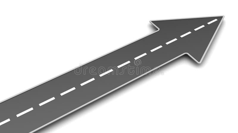 有箭头的路 向量例证