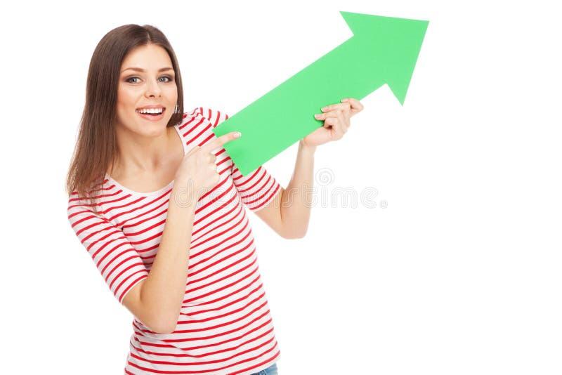Download 有箭头的年轻偶然妇女 库存照片. 图片 包括有 人力, 喜悦, 夫人, 愉快, 增长, 发展, 商业, 现代 - 30335902