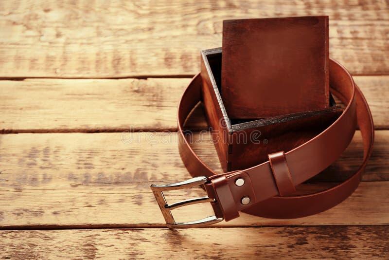 有箱子的时髦的皮带 免版税图库摄影