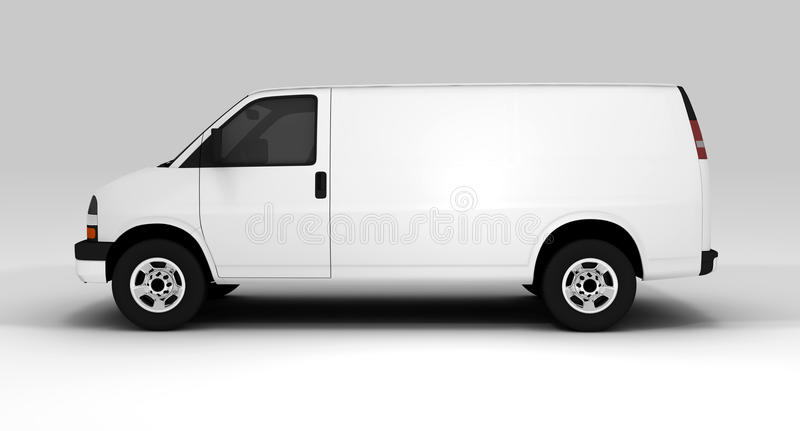 有篷货车白色 向量例证