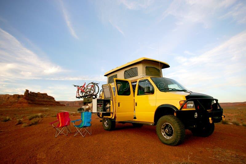 有篷货车黄色 库存图片