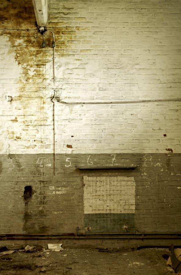 有米的被放弃的老墙壁 免版税库存图片
