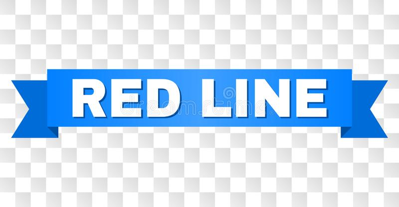 有红线的文本蓝色磁带 皇族释放例证