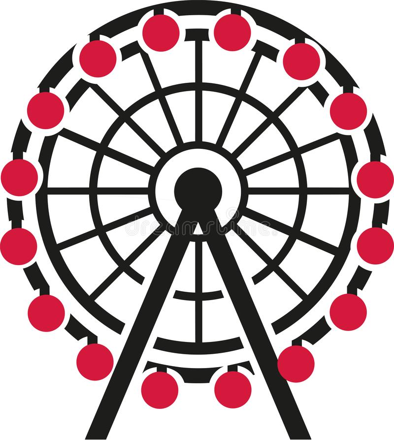有红色长平底船的弗累斯大转轮 库存例证