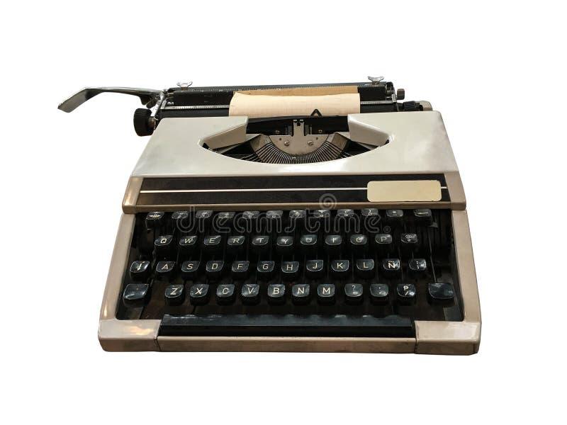 有纸板料空间的老打字机您的文本的 库存图片