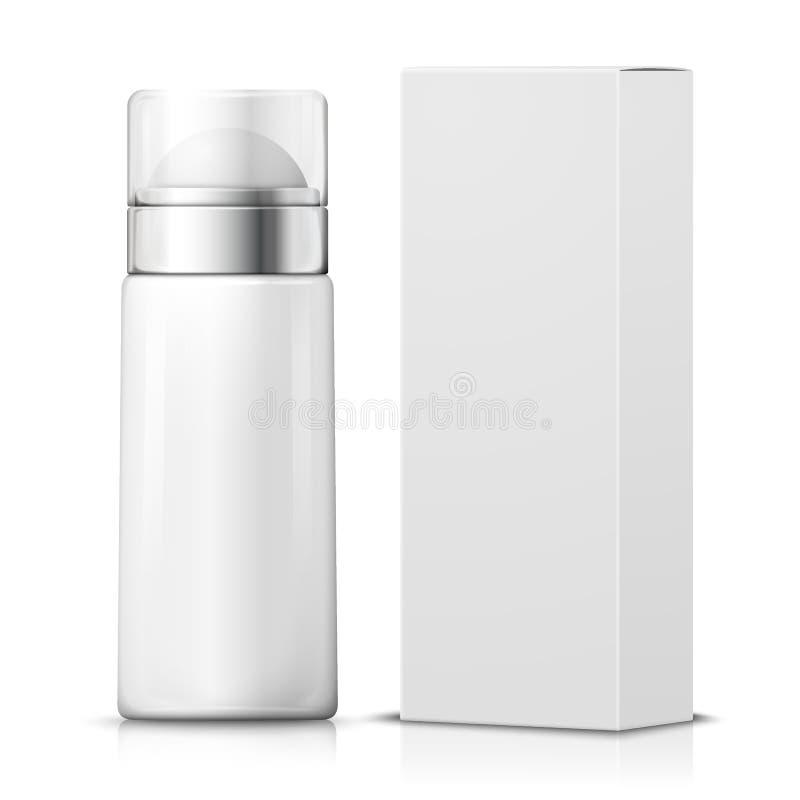 有纸箱的传染媒介3d现实防臭剂 皇族释放例证