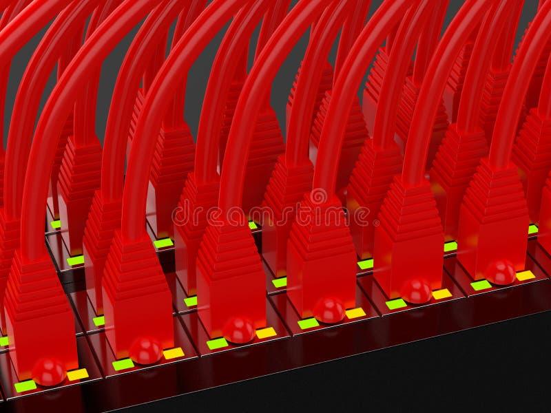 有线电视网红色 免版税库存图片