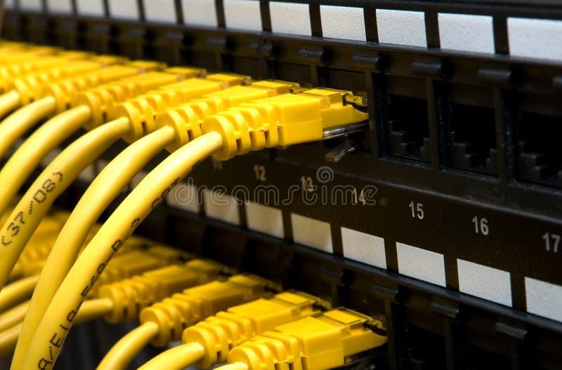 有线电视网黄色 库存照片