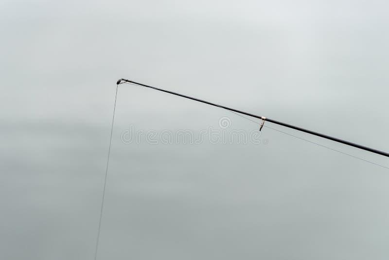 有线的特写镜头钓鱼竿 图库摄影