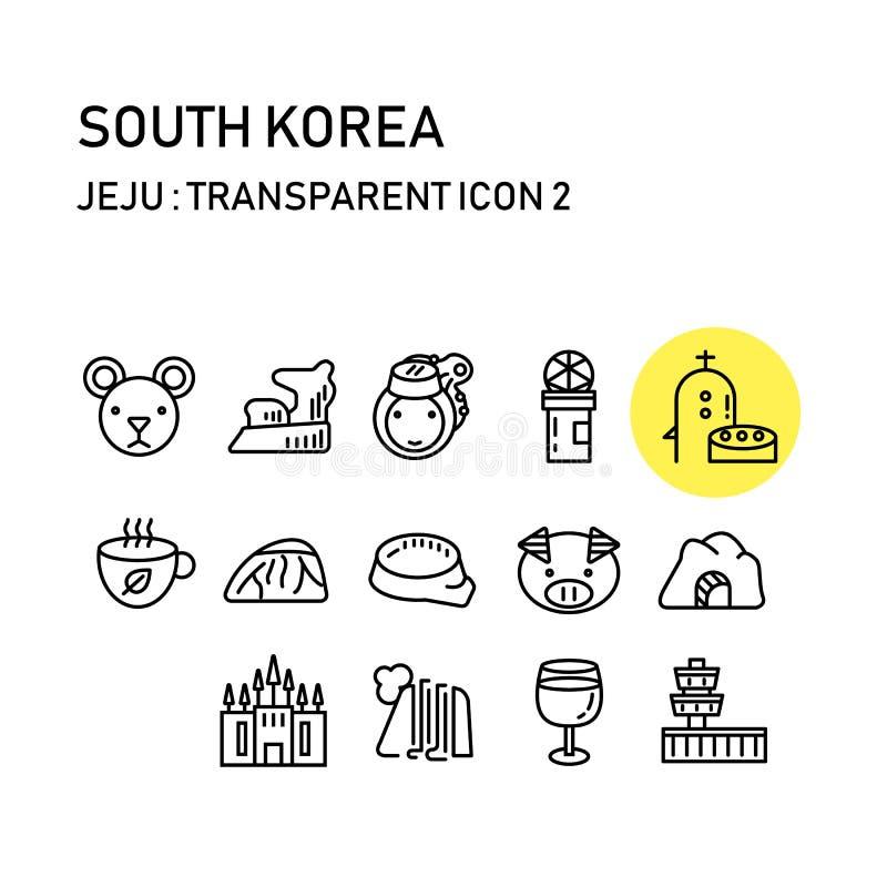 有线的透明设计,韩国济州海岛 图库摄影