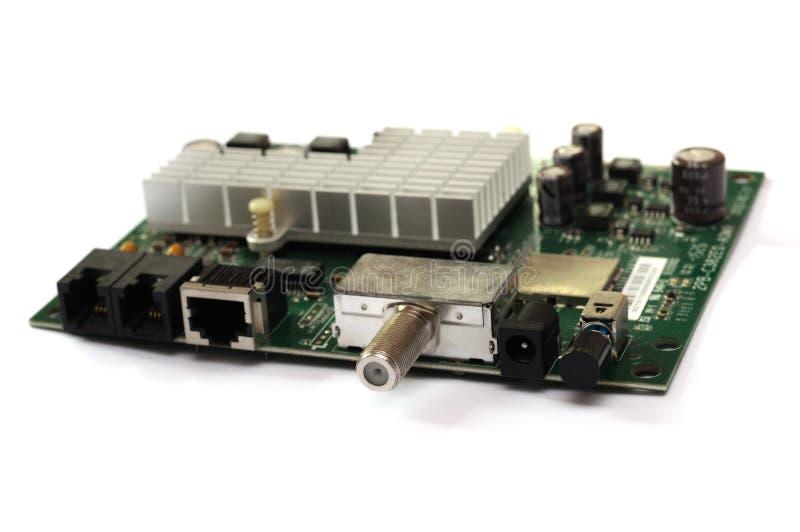 有线调制解调器控制器电路板 免版税库存照片