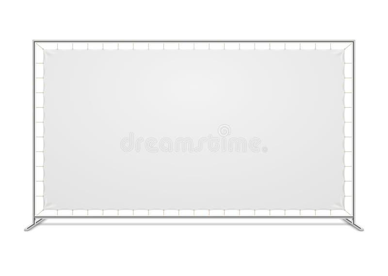 有织品横幅传染媒介模板的白色空白的广告新闻墙壁 皇族释放例证