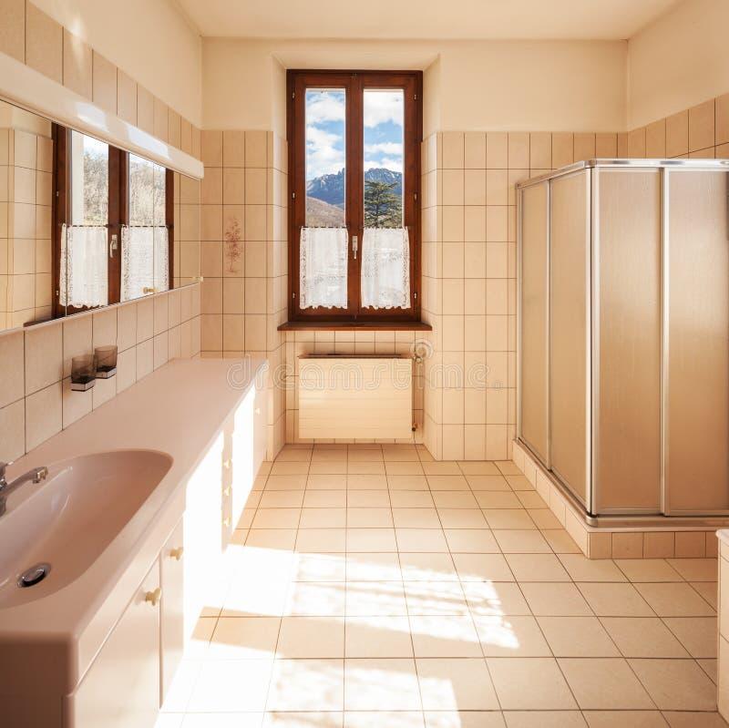 有经典式瓦片的卫生间 库存图片