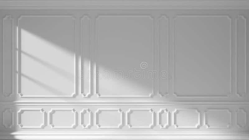 有经典造型的白色墙壁 向量例证