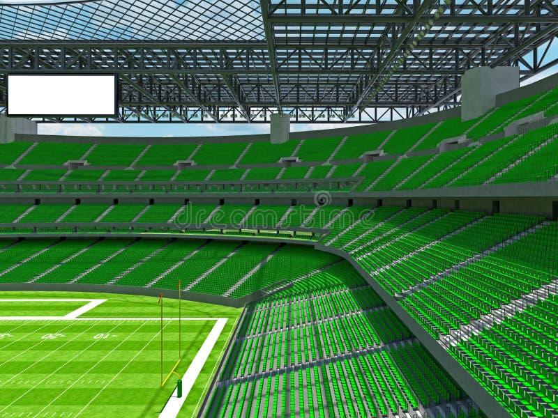 有绿色位子的现代橄榄球体育场 皇族释放例证