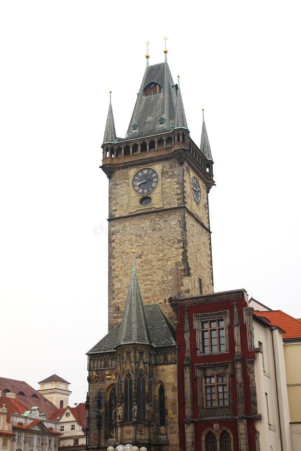 一个区域的城镇厅在布拉格 免版税库存图片