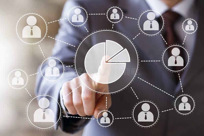 有网图网上企业标志的人用图解法表示 免版税库存图片