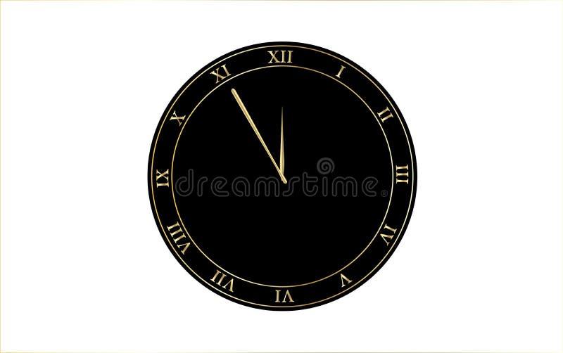 有罗马数字传染媒介例证的减速火箭的时钟 皇族释放例证