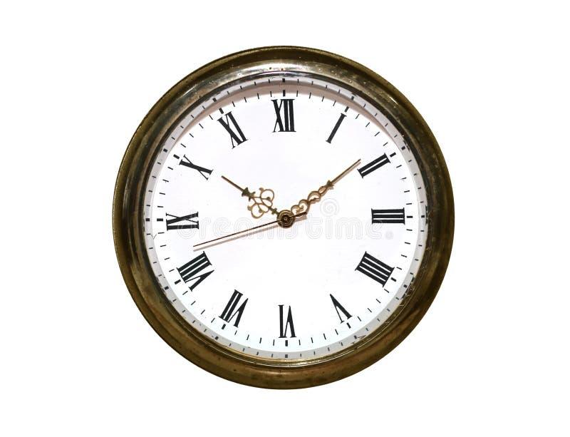 有罗马数字的减速火箭的时钟 免版税库存图片