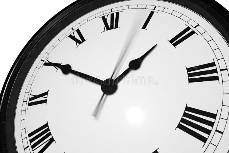 有罗马numebers的时钟在白色背景 免版税库存照片