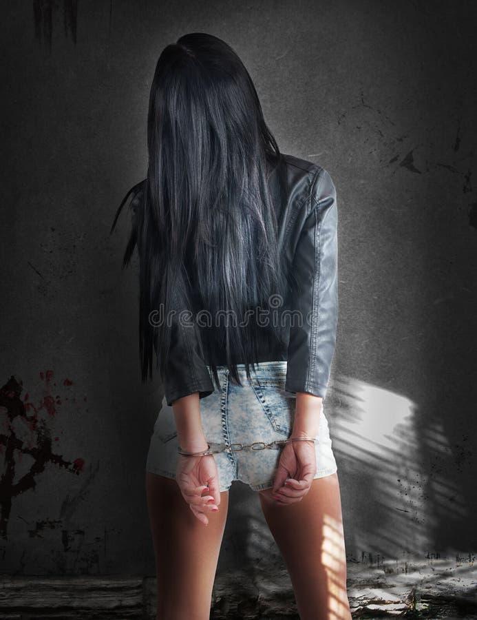 有罪性感的妇女 免版税图库摄影