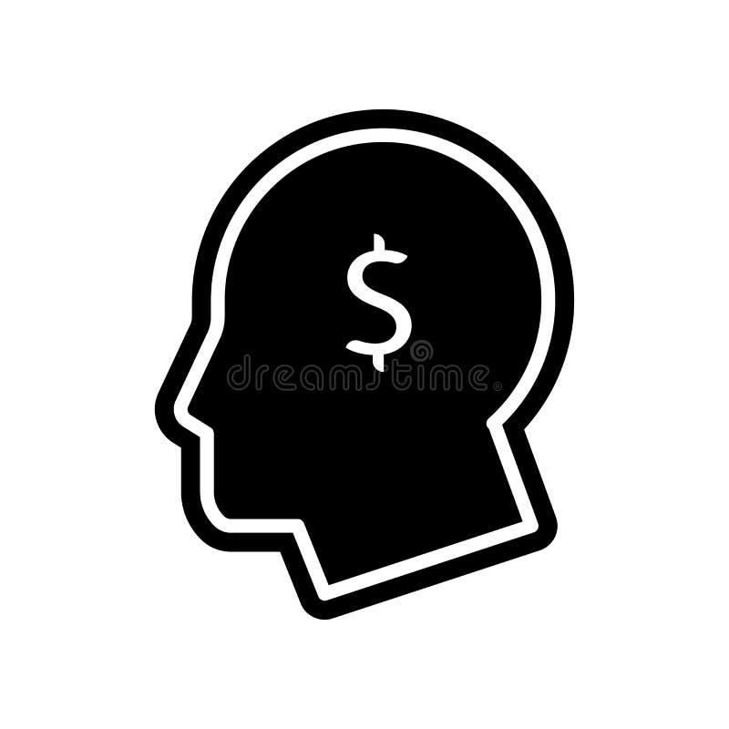 有美元标志象的头 财务的元素流动概念和网应用程序象的 r 向量例证
