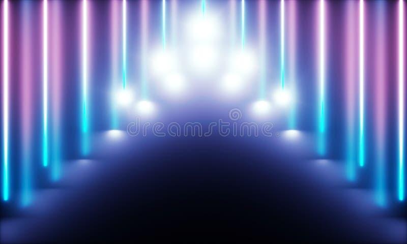 有美妙的光的氖灯 皇族释放例证