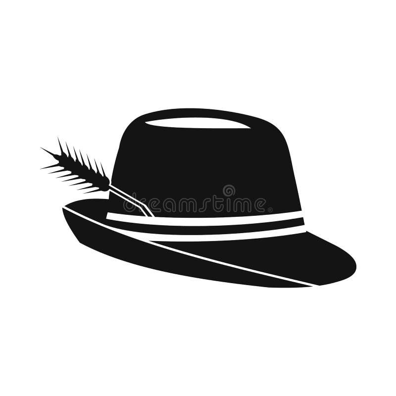 有羽毛象的帽子,简单的样式 皇族释放例证