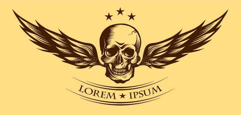 有翼传染媒介例证的头骨 皇族释放例证