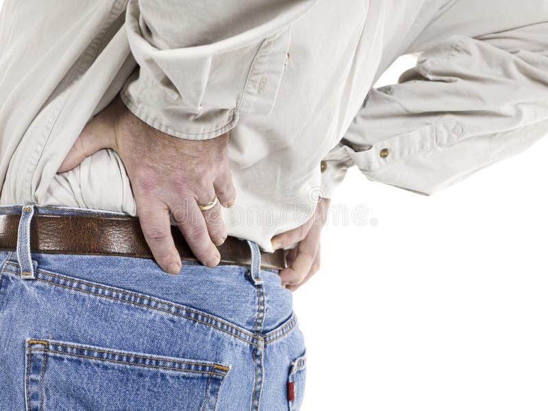 有老的人背部疼痛 库存图片