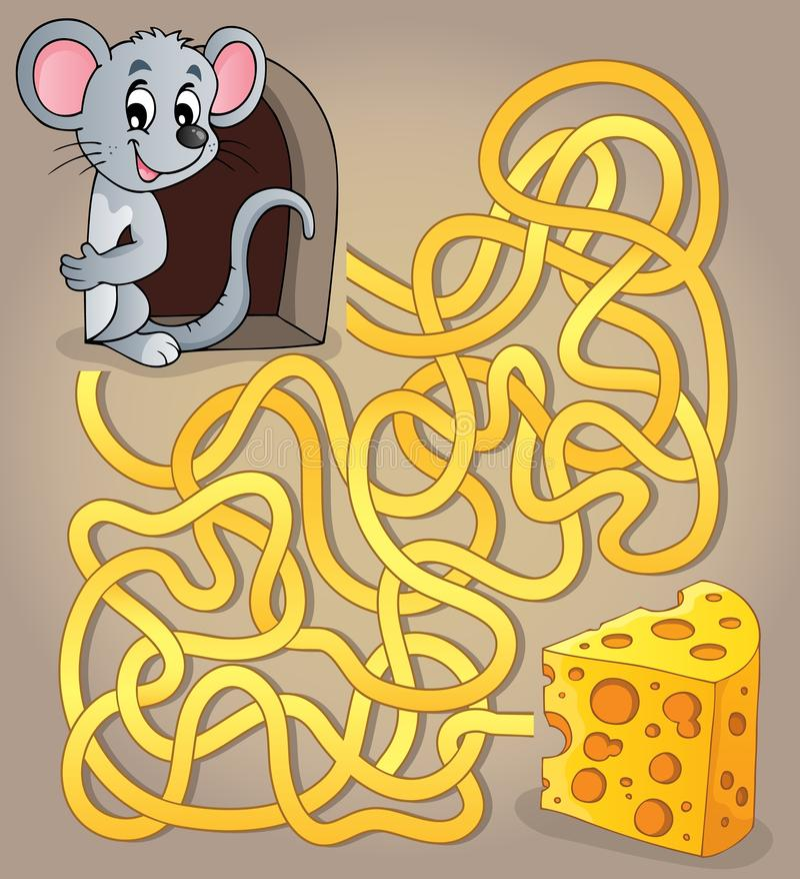 有老鼠和乳酪的迷宫1 皇族释放例证