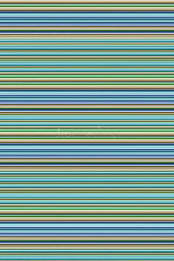 有肋骨垂直的对比灰棕色的背景绿色薄荷的蓝色基地水平的日志 向量例证