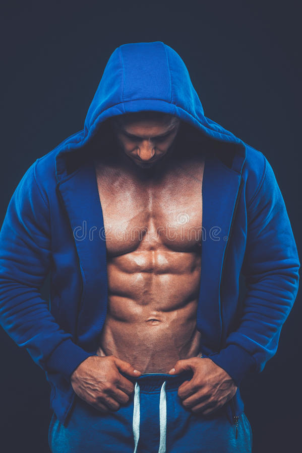 有肌肉躯干的人 强的运动人健身模型 库存图片